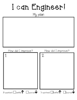 Engineering Process Recording Sheet- primary