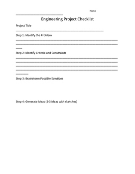 Engineering Project Checklist