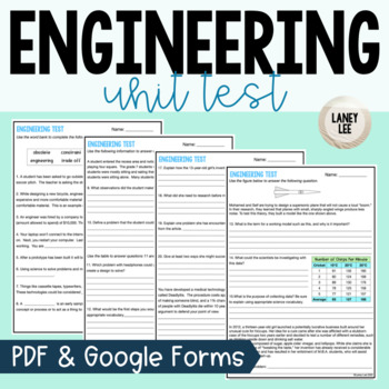 Engineering Unit Test and Study Guide