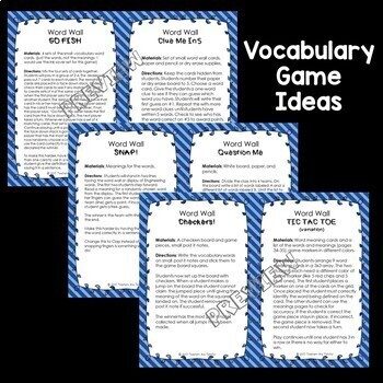 Engineering Vocabulary and Word Wall
