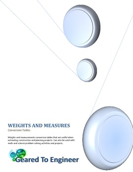 Engineering: Weights and Measures Conversion Tables