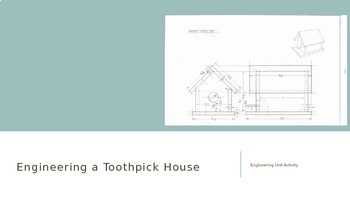 Engineering a Toothpick House Project with Activity sheets