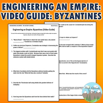 Engineering an Empire: Byzantines Video Guide Original Questions
