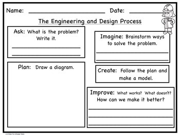 Engineering and Design Process Recording Sheets