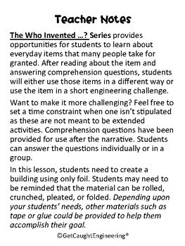Engineering and Reading: Who Invented Aluminum Foil?