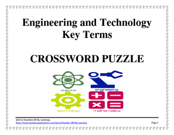 Engineering and Technology Key Terms Study Guide Crossword Puzzle