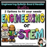 Engineering or STEM Poster, Coloring Page and Bookmarks (Brights)