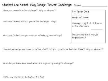 Engineering with Play Dough ~ STEM Challenges ~ Set of Five!