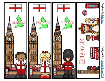 England Bookmarks -  4 Designs