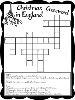 Christmas Around the World - England - Facts, Carols, Worksheets