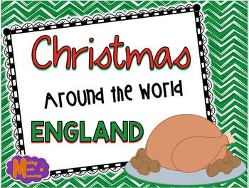 Christmas Around the World - England - Facts, Carols, Worksheets
