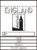 England Country Research Flip Book