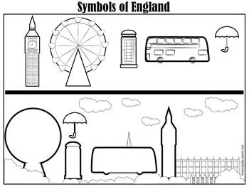 England | England Worksheet | Symbols of England | Great Britain Symbols