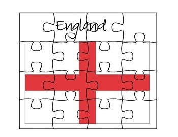 England Flag Puzzle