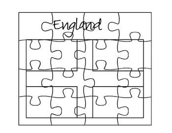 England Flag Puzzle