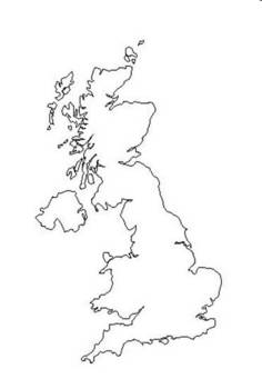 England Geography Map labeling project