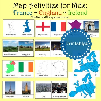 England, Ireland and France Maps and Pictures by The Natural Homeschool
