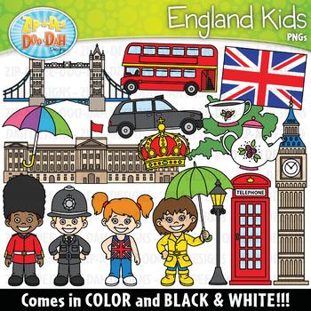 England Kids Clipart Set {Zip-A-Dee-Doo-Dah Designs}