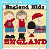 England Kids Color Clip Art C. Seslar