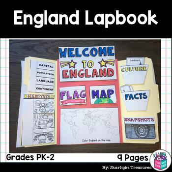 England Lapbook For Early Learners A Country Study By Starlight