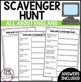 England Scavenger Hunt - Research Based