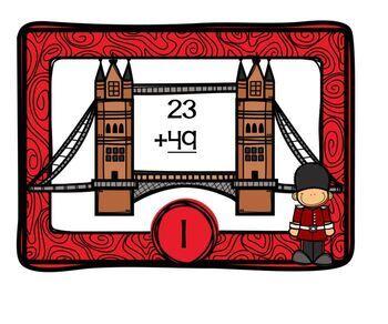 England Themed Math Station