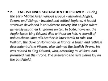 England and France in the Middle Ages