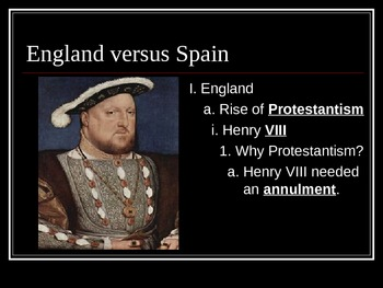 England vs Spain (1500s) PowerPoint Lecture