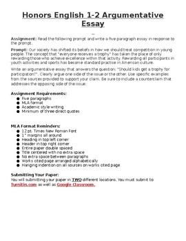 English 1-2 Argumentative Essay