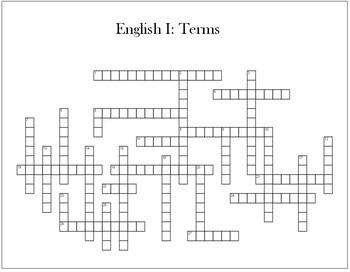 English 1 Crossword Terms