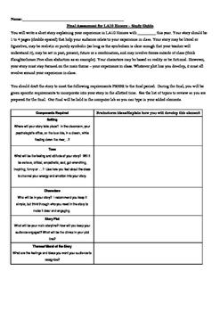 English 10 Final - Creative Writing Class Eval