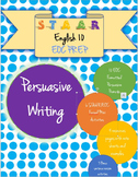 English 10 STAAR EOC Persuasive Essay Activity and Prompt Packet-Word Doc
