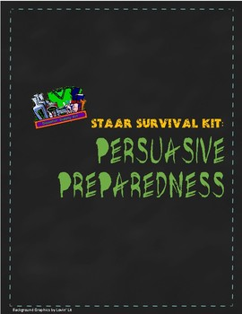 English 10 STAAR Survival Kit: Preparing for Persuasive Writing Blank Out-PDF