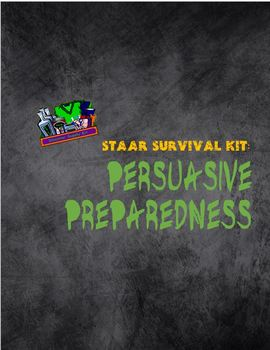 English 10 STAAR Survival Kit: Preparing for Persuasive Writing Blank Out -Word