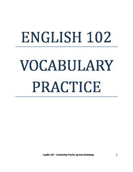 English 102 Vocabulary Practice