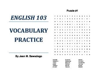 English 103 Vocabulary Practice