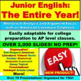 11th Grade English Entire Year: Complete Junior Year, American Literature
