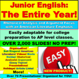 11th Grade English Entire Year: Complete, Full Junior Year