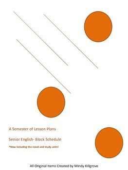English 12 Lesson Plans and Study Units (for the semester-