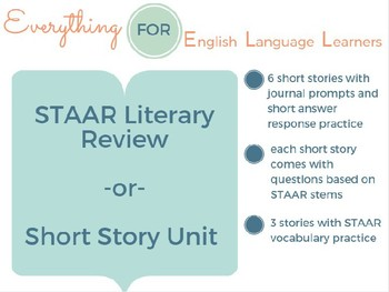 English 2 STAAR Literary Review/ Short Story Unit