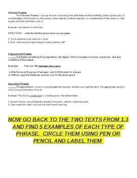 English 2 Springboard 1.4
