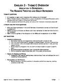 English 3 - Unit 4 - Theme C - Dissipation to Depression