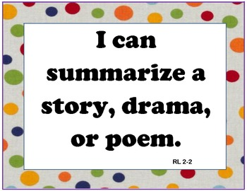 """English 5 Common Core  At-a-Glance, Mastery Checklists, and """"I can"""" Posters!"""