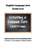 English 9-10 Common Core At-a-Glance, Mastery Checklists,
