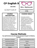 English 9 Course Syllabus