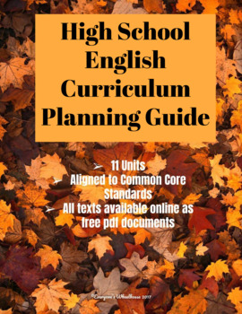 High School English Curriculum Planning Guide