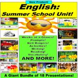 Summer School English Activities: 17 PowerPoints in 1 Bundle!