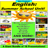 Summer School English Activities: 17 PowerPoints in 1 Bundle!