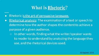 English 9th-12th Rhetoric Resources
