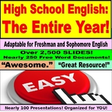 English 9th Grade:  The Complete Freshman Year Bundle